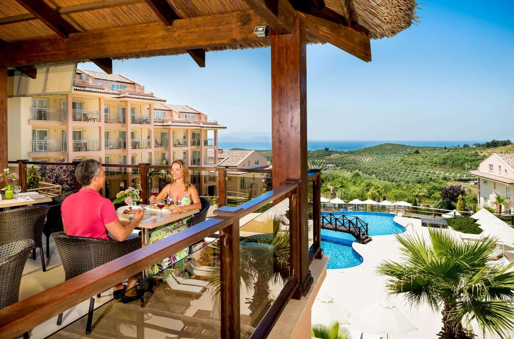 Delicious breakfast with great ocean views from Kusadasi Golf & Spa