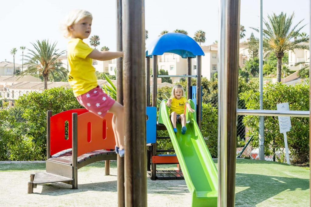 Younger guests having fun in the colourful playground at Marina del Rey