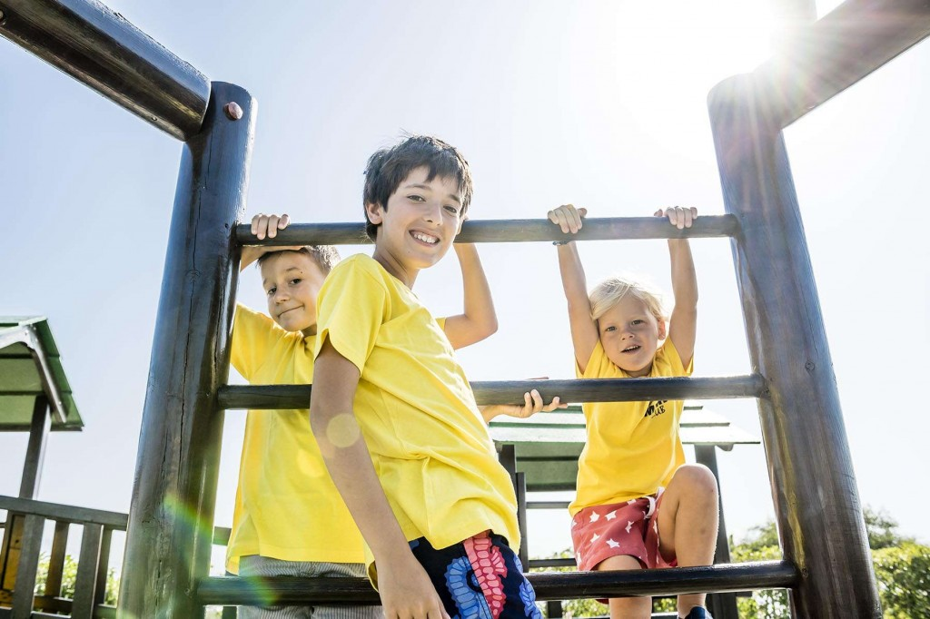 Younger guests enjoying their time in the Team Marina playground in Marina del Sol