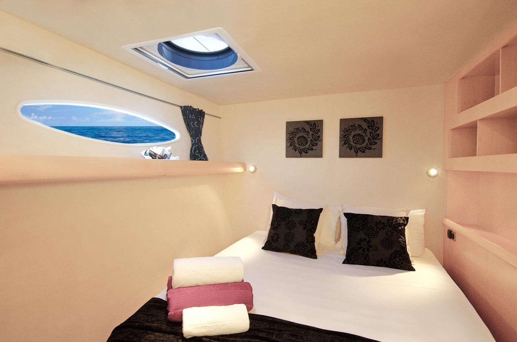 The CLC Yacht bedroom boasts incredible views