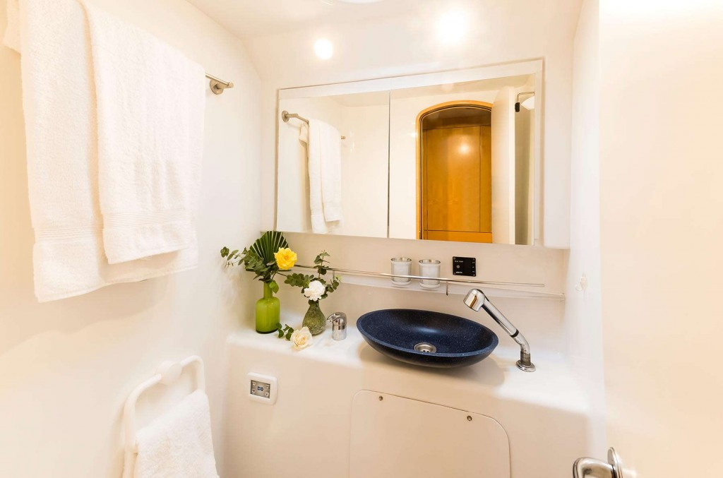 Bright and spacious bathrooms